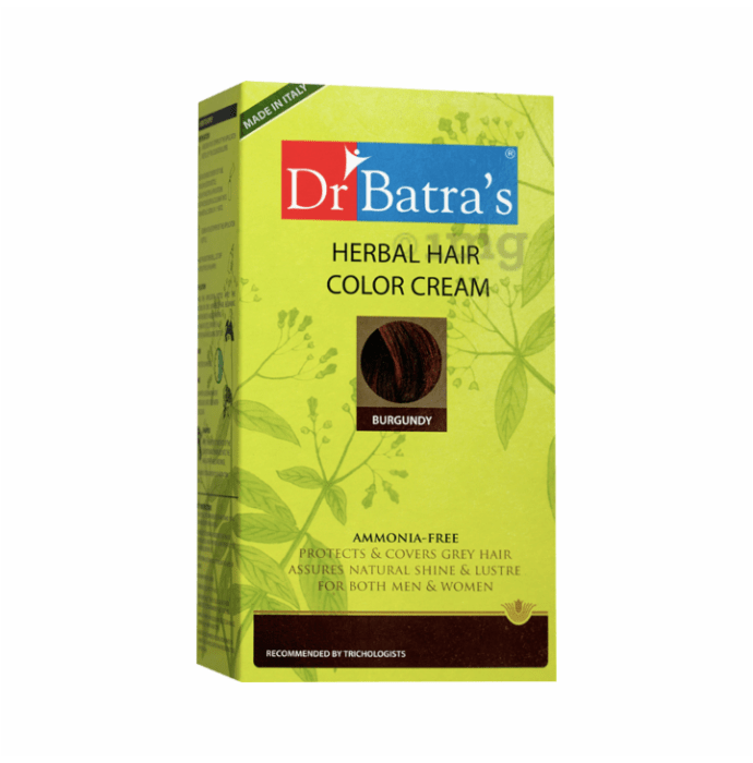 Dr Batra's Herbal Hair Color Cream Burgundy