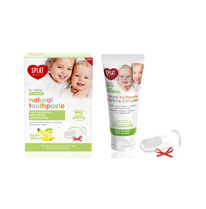Splat Baby Natural Toothpaste (0-3 Year) Apple-Banana
