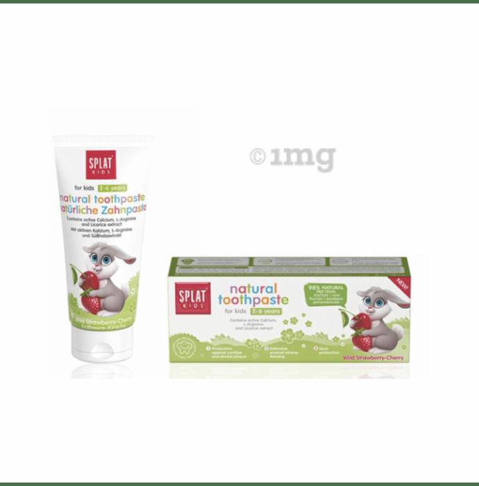 Splat Kids Natural Toothpaste (2-6 Year) Wild Strawberry-Cherry