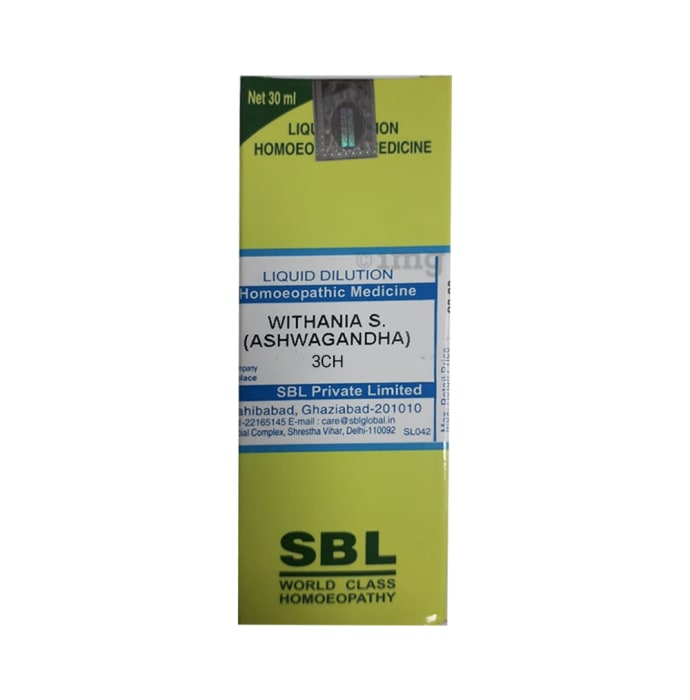 SBL Withania S (Ashwagandha) Dilution 3 CH