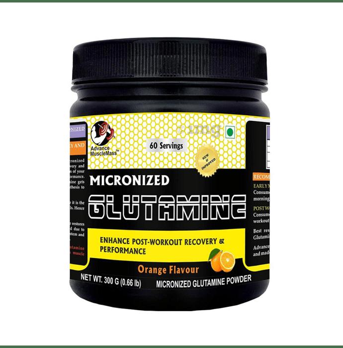 Advance MuscleMass Micronized Glutamine Powder Orange