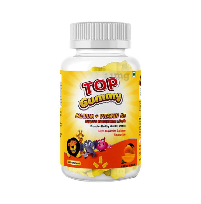 HealthVit Top Gummy Calcium + Vitamin D3 Mango