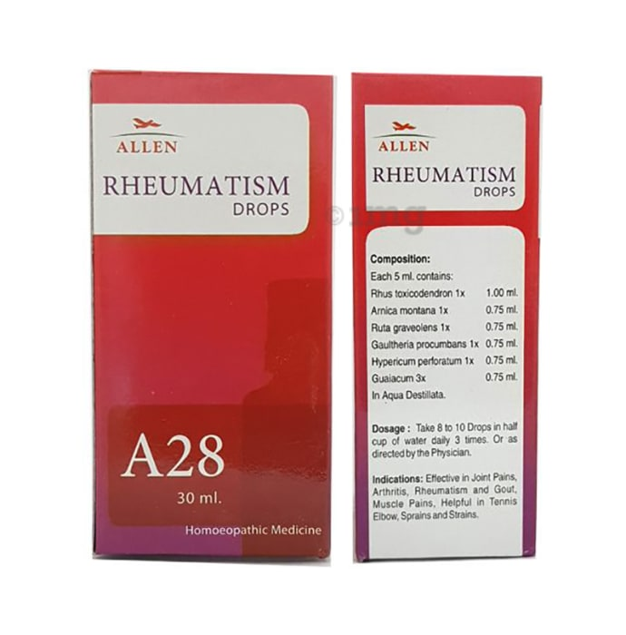 Allen A28 Rheumatism Drop