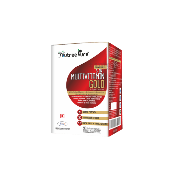 Nutree Pure 5 in 1 Multivitamin Gold Softgel Capsules