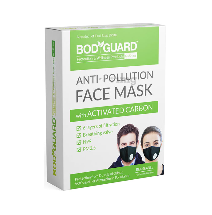 Bodyguard Anti Pollution Mask with Activated Carbon, N99 + PM2.5 M