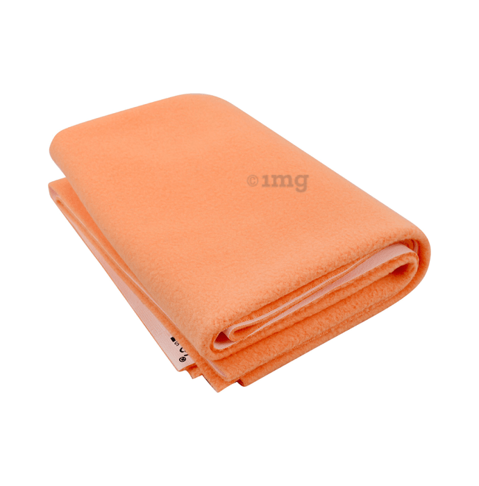 Polka Tots New Born Baby Mat Bed Protector Waterproof Sheet S Peach