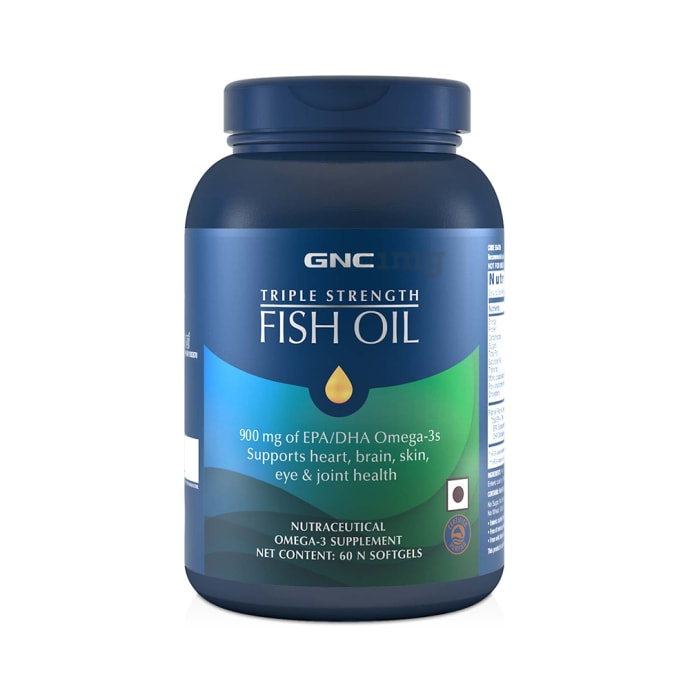 GNC Triple Strength Fish Oil Softgel Capsules