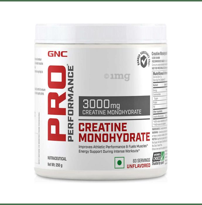 GNC Pro Performance Creatine Monohydrate 3000mg Powder Unflavoured