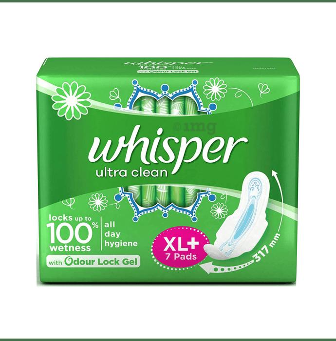 Whisper Ultra Clean Wings Sanitary Pads XL Plus