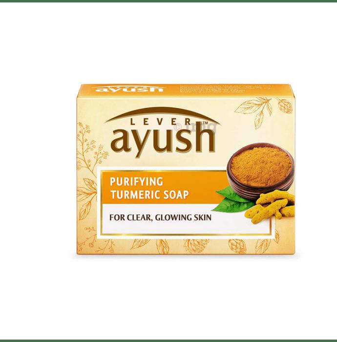 Lever Ayush Soap (100gm Each) Purifying Turmeric