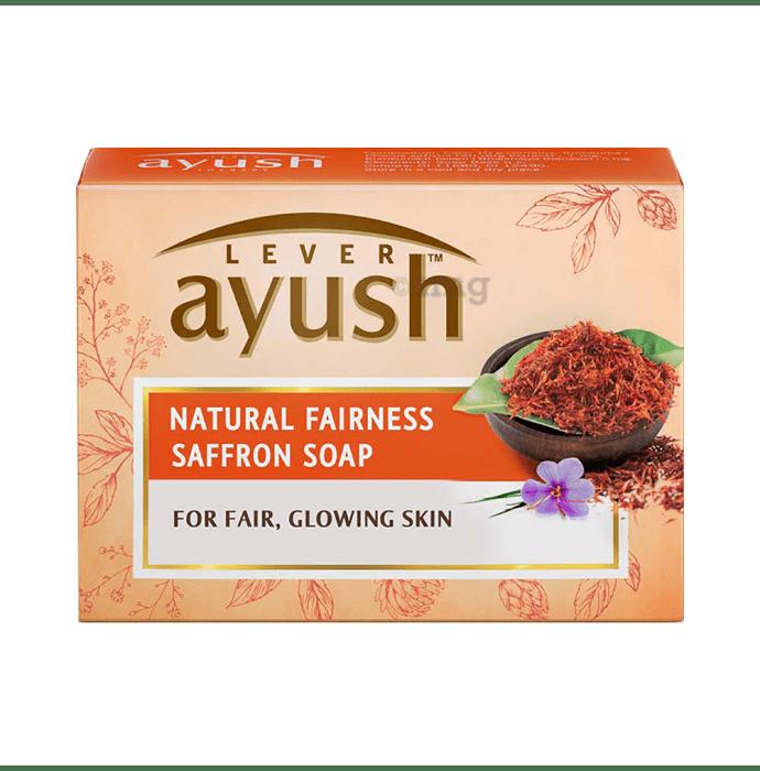 Lever Ayush Soap (100gm Each) Natural Fairness Saffron