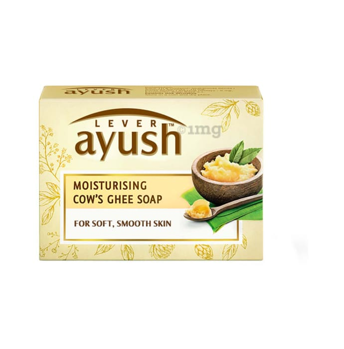 Lever Ayush Soap (100gm Each) Moisturising Cow Ghee