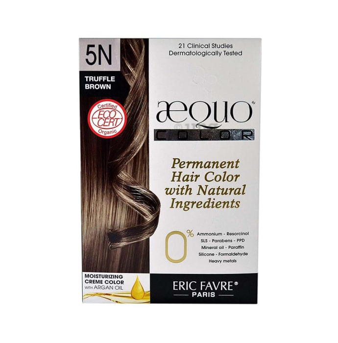 Aequo Permanent Hair Color with Natural Ingreidents Truffle Brown 5N