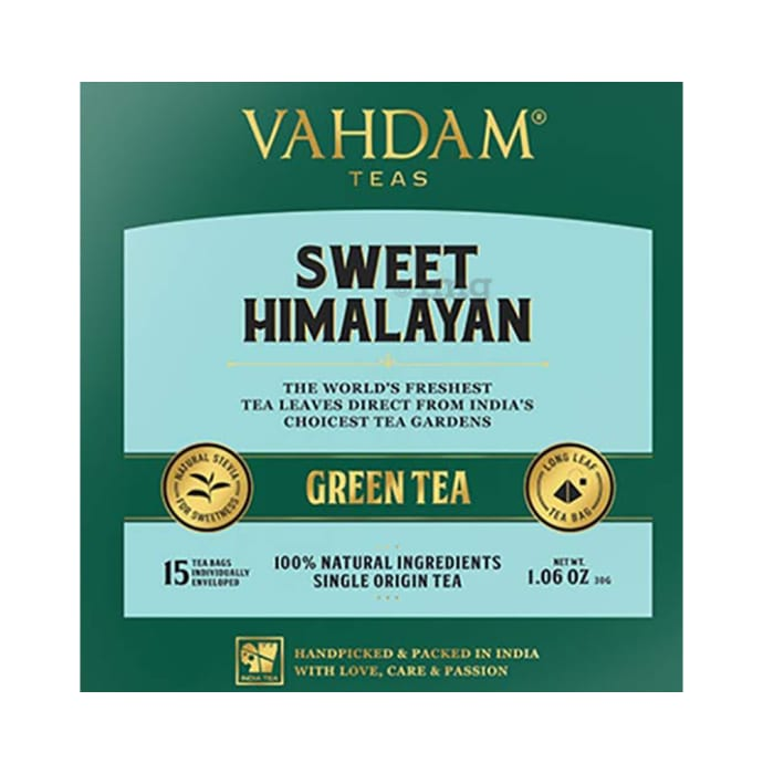Vahdam Sweet Himalayan Teas Green Tea (2gm Each)