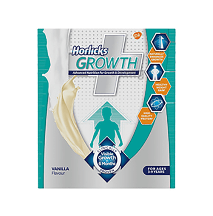 Horlicks Growth Plus Powder Refill Pack Vanilla