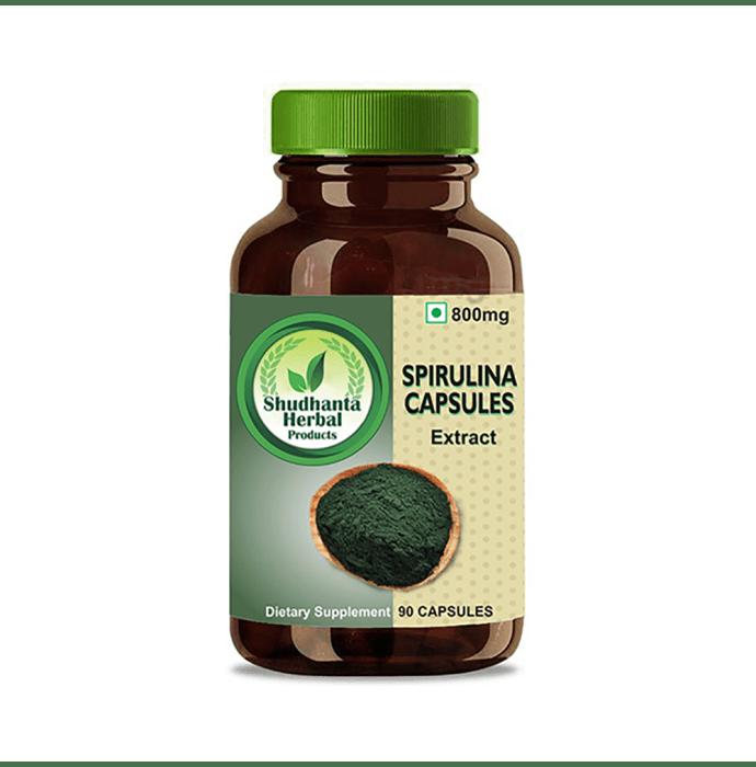 Shudhanta Herbal Spirulina 800mg Capsule