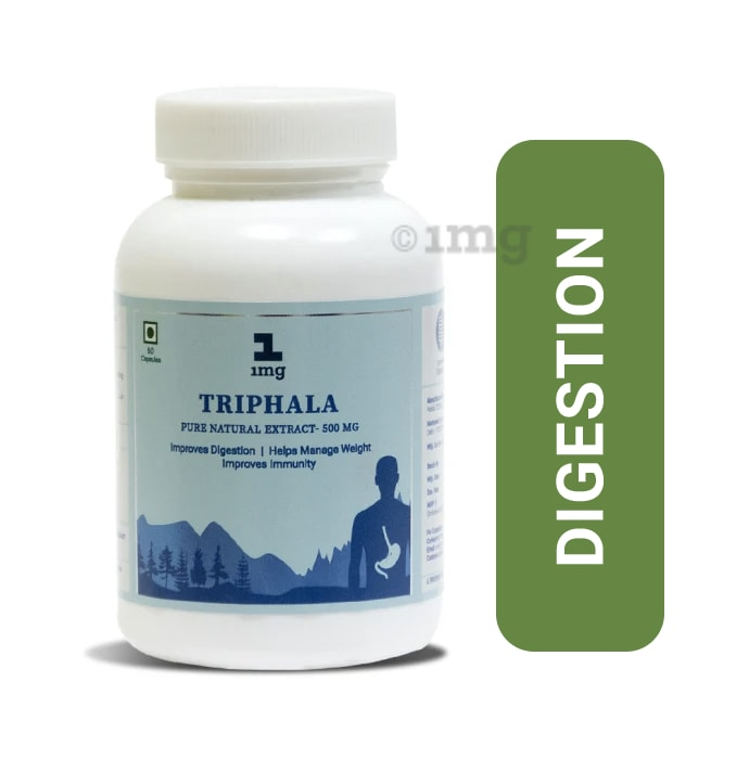 1mg Triphala Pure Natural Extract 500mg Capsule