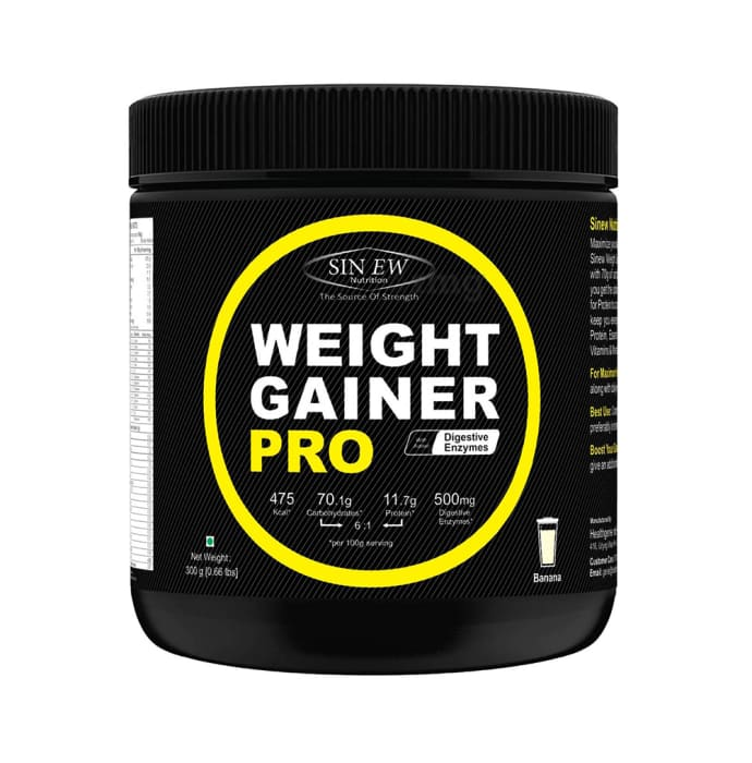 Sinew Nutrition Weight Gainer Pro with Digestive Enzymes Banana