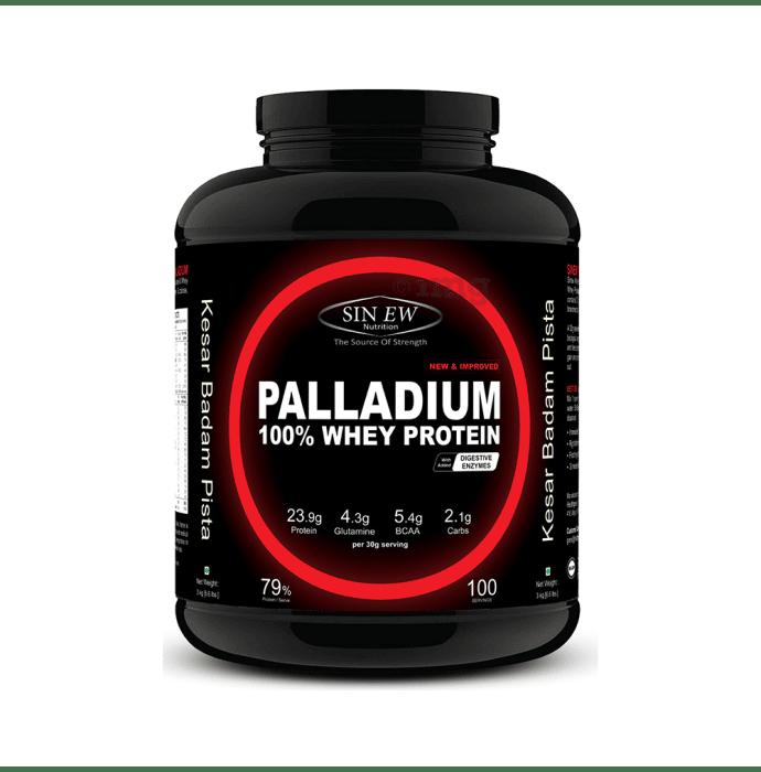 Sinew Nutrition Palladium 100% Whey Protein with Digestive Enzymes Kesar Pista Badam