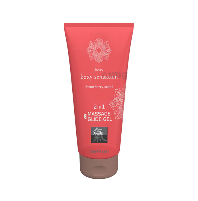 Shiatsu 2 in 1 Massage & Glide Gel Strawberry Scent