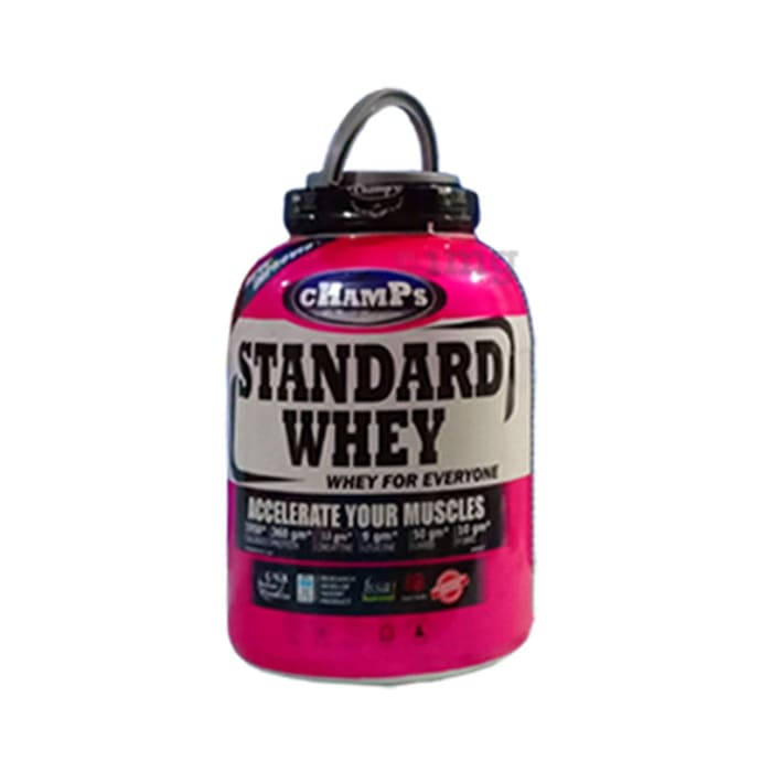 Champs Standard Whey Protein Strawberry with Protein Funnel Free