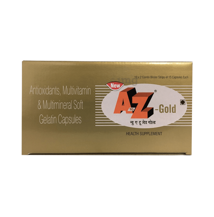 New A to Z Gold Soft Gelatin Capsule