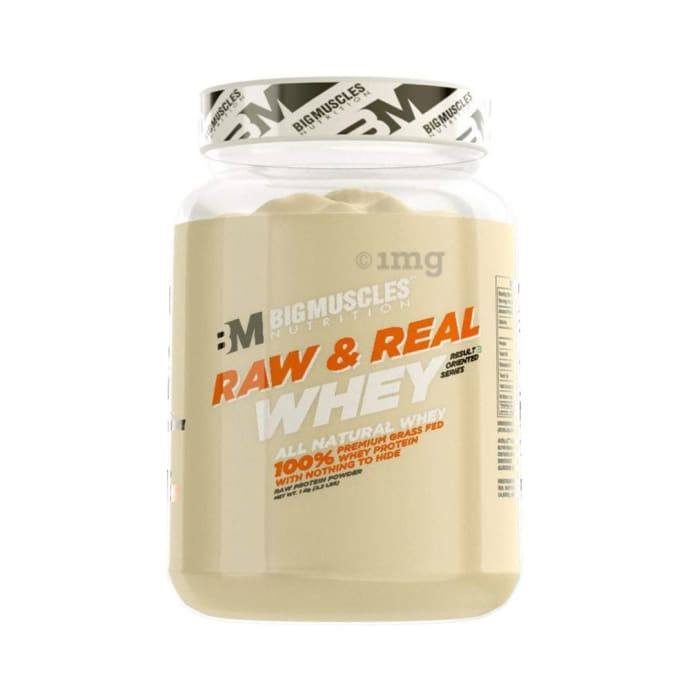 Big  Muscles Raw & Real Whey Protein Powder
