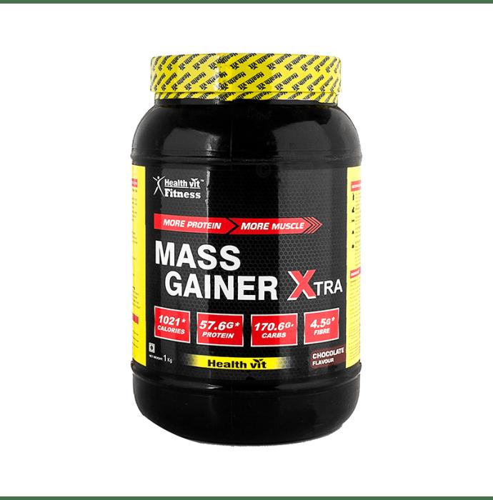 HealthVit Mass Gainer Xtra with Vitamins & Minerals Powder Chocolate
