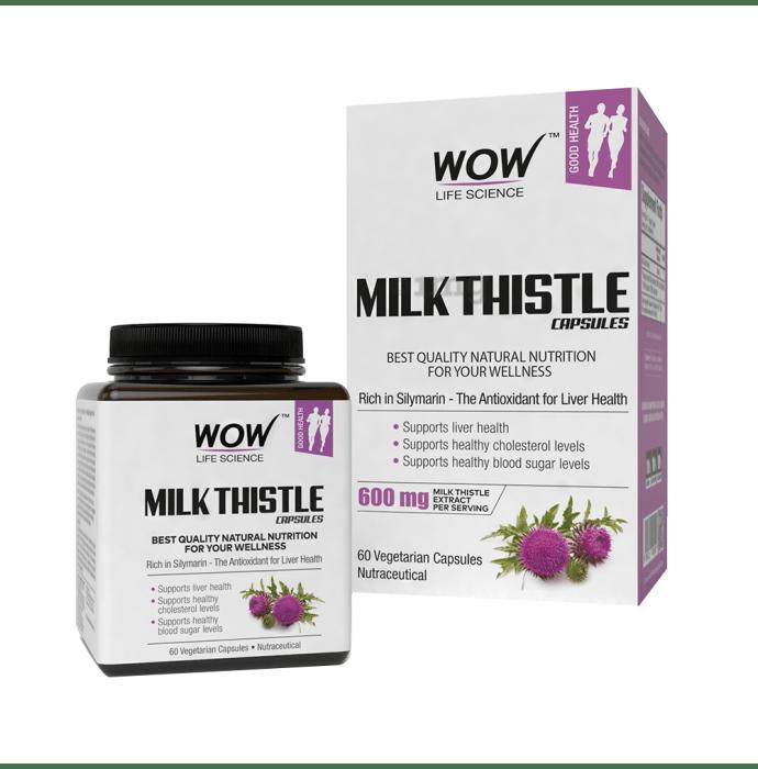 WOW Life Science Milk Thistle Vegetarian Capsule