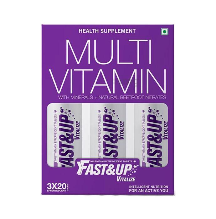 Fast&Up Vitalize Multivitamin Effervescent Tablet Orange