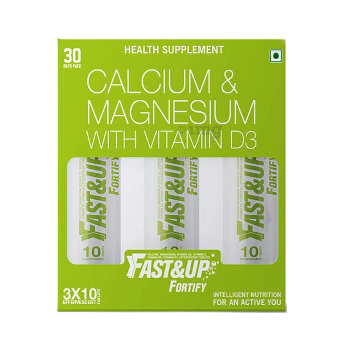 Fast&Up Fortify Calcium & Magnesium with Vitamin D3 Tablet Lemon and Lime