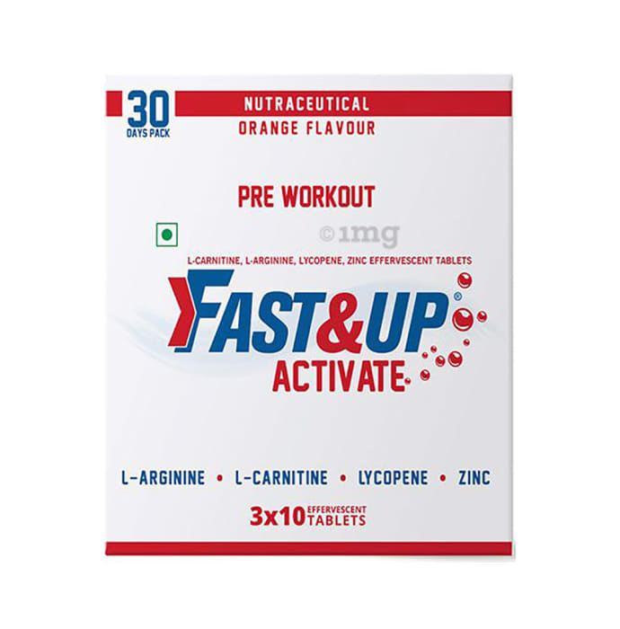 Fast&Up Activate Pre Workout Effervescent Tablet Orange