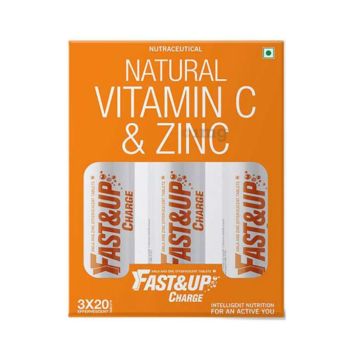 Fast&Up Charge Natural Vitamin C & Zinc Effervescent Tablet Orange