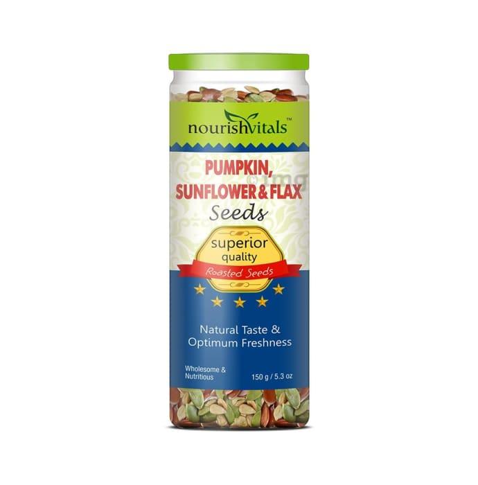 NourishVitals Pumpkin, Sunflower & Flax Seeds Roasted