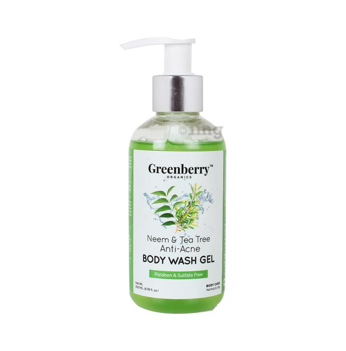 Greenberry Organics Body Wash Gel Neem and Teatree