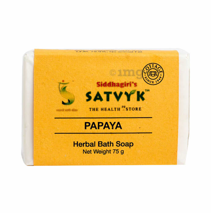 Satvyk Herbal Bath Soap Papaya