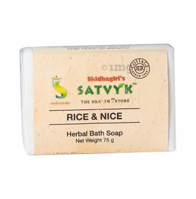 Satvyk Herbal Bath Soap Rice & Nice