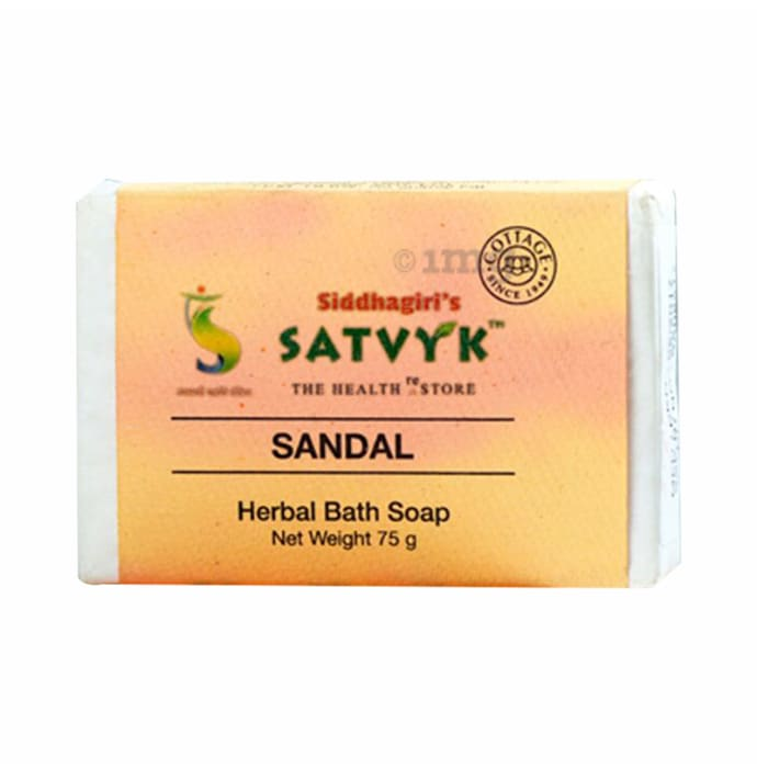 Satvyk Herbal Bath Soap Sandal