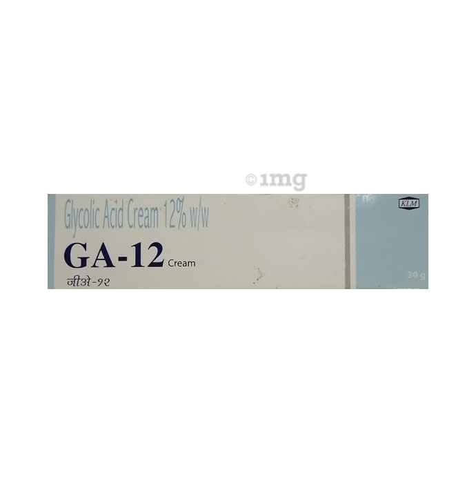 Ga -12 Cream: Buy tube of 30 gm Cream at best price in India 1mg