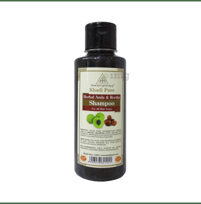 Khadi Pure Herbal Amla & Reetha Shampoo