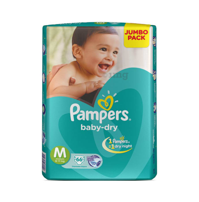 Pampers Baby-Dry Disposable Diaper M