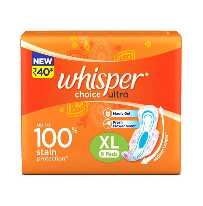 Whisper Choice Ultra Sanitary Pads XL