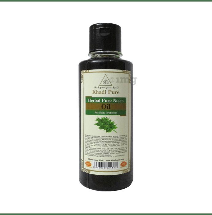 Khadi Pure Herbal Pure Neem Oil Plain