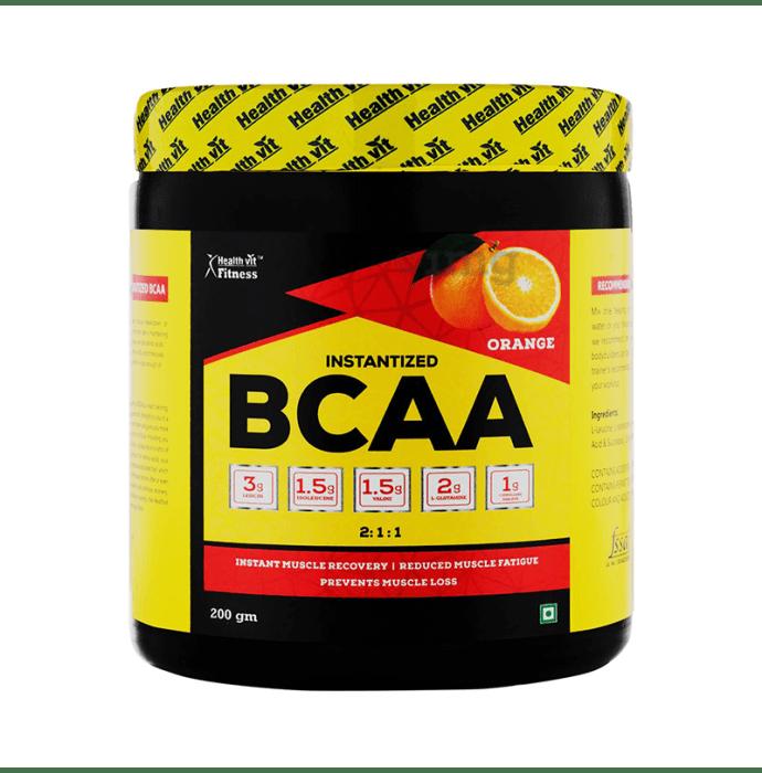HealthVit Fitness Instantized BCAA 2:1:1 Powder Orange