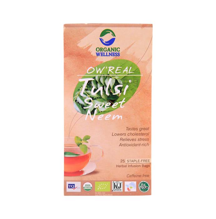 Organic Wellness OW' Real Tulsi Herbal Infusion Bags Sweet Neem