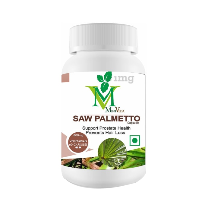 Mint Veda Saw Palmetto 800mg Vegetarian Capsules