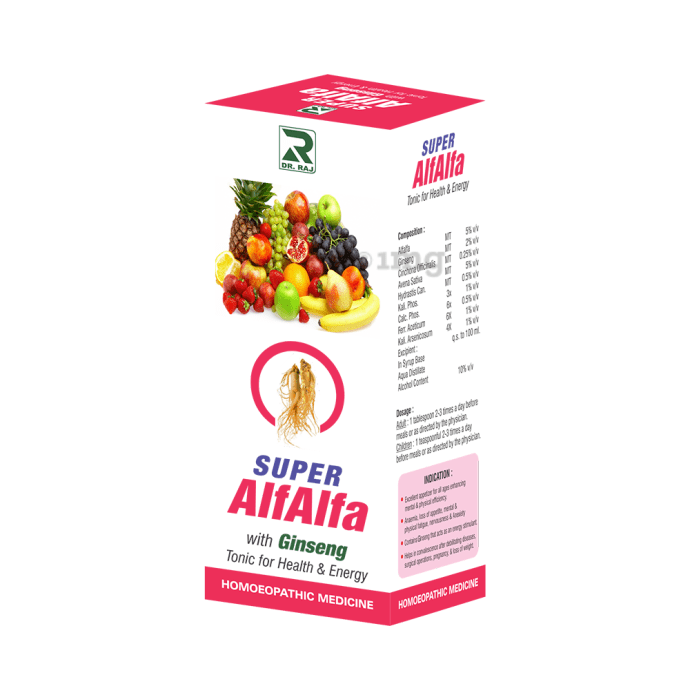 Dr. Raj Super Alfalfa With Ginseng Tonic