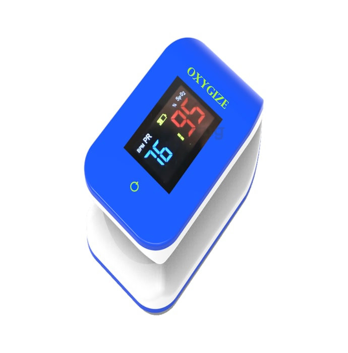 Oxygize Pulse Oximeter with Bluetooth Blue