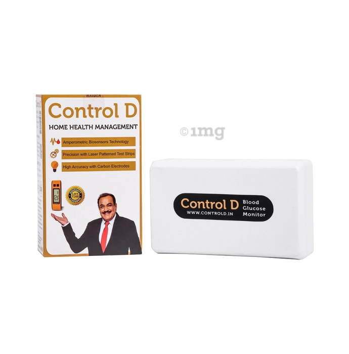 Control D Home Health Management Blood Glucose Monitor Kit with 25 Strips Orange