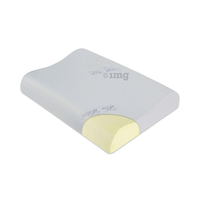 The White Willow Cervical Orthopedic Memory Foam Contour Pillow King